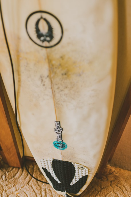 wedding surfboard