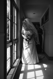 Bride peeking