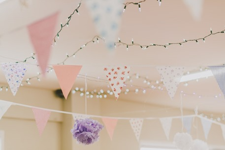 personalised bunting hanging