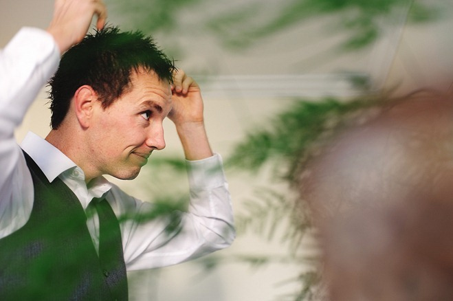 groom preparation hair