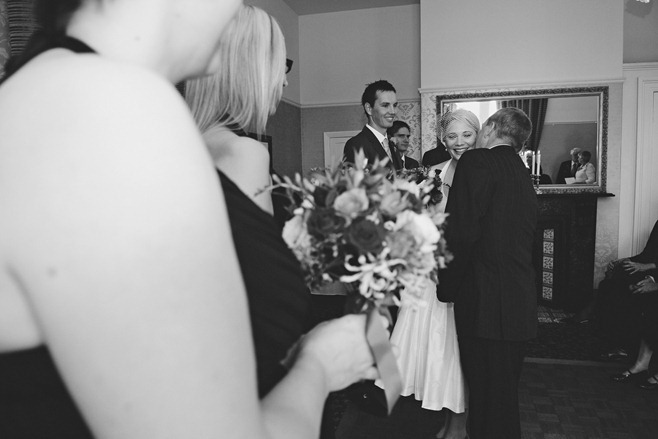 Father offering Bride to Groom