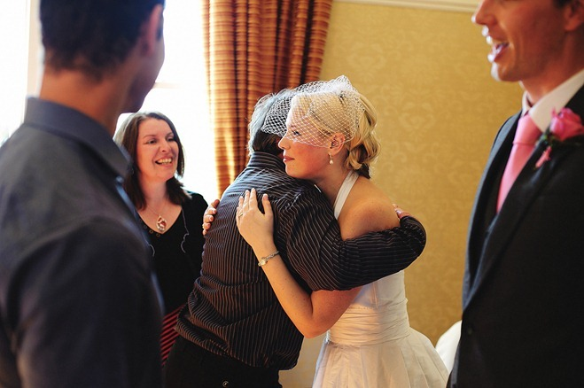 Wedding hugs & kisses