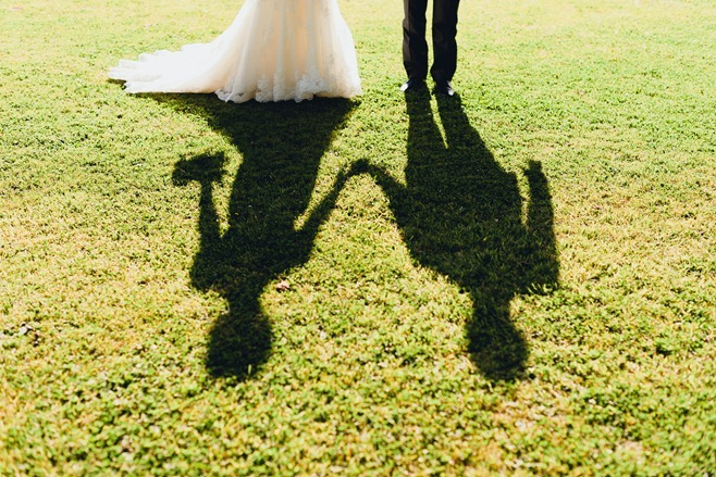 bride & groom shadow photo