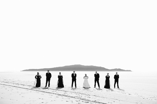 kapiti island beach wedding portraits