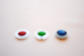 Out of focus Ring shot with M&Ms