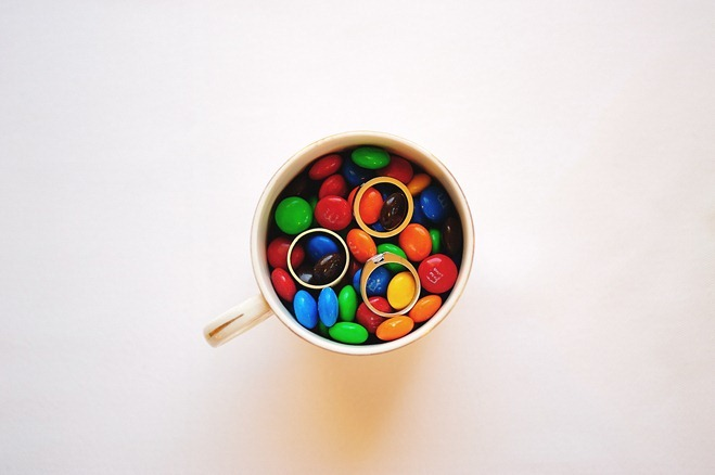 Cup of M&Ms