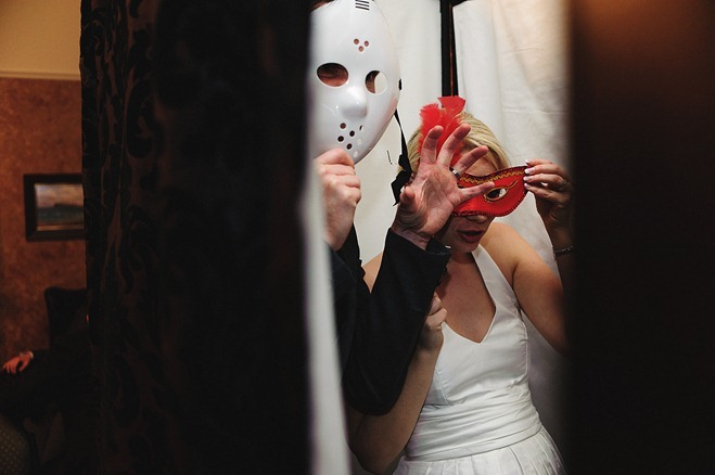 Bride & Groom in the Photobooth
