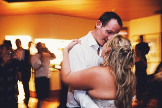 intimate bride & groom first dance