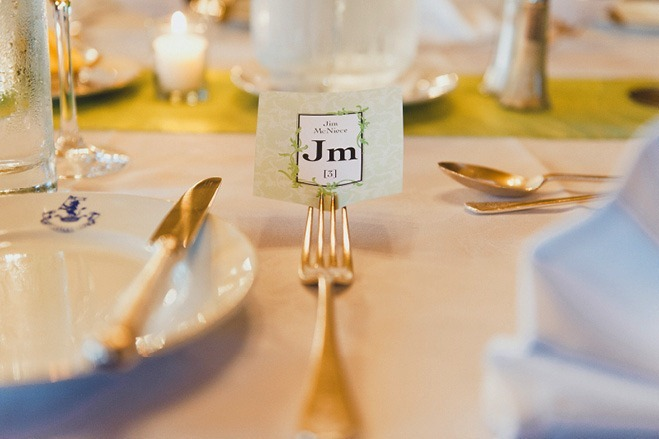 table place setting in fork