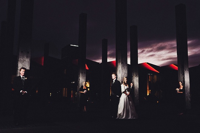 off camera flash wedding photography