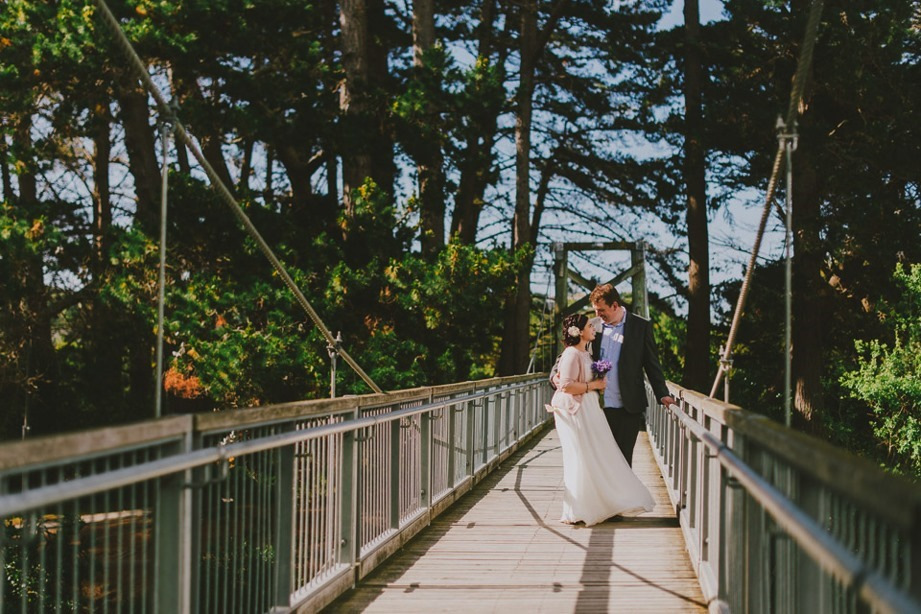wedding bridge photo
