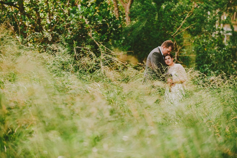 long grass wedding photo